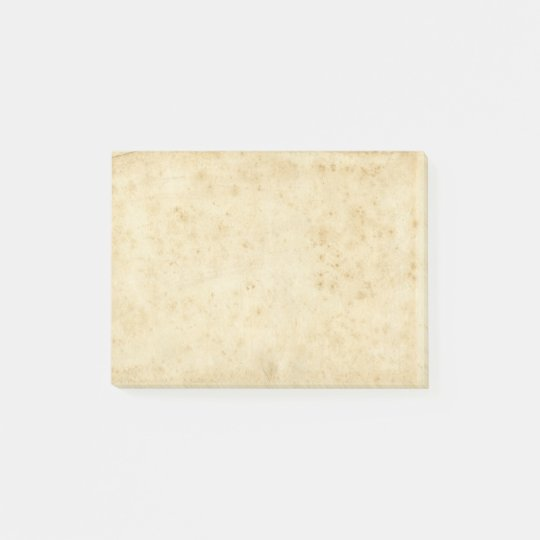 Beautiful Rustic Stained Antique Blank Old Paper Post-it
