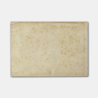 Beautiful Rustic Stained Antique Blank Old Paper Post-it Notes