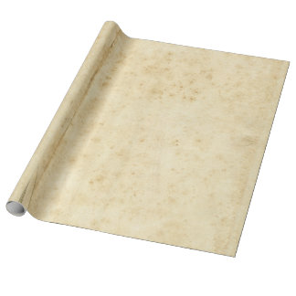 Beautiful Rustic Stained Antique Blank Old Paper Wrapping Paper