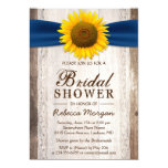 Beautiful Rustic Sunflower Ribbon Bridal Shower 13 Cm X 18 Cm Invitation Card