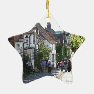 Beautiful Rye in England Ceramic Star Decoration