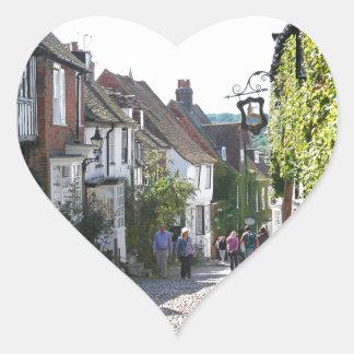 Beautiful Rye in England Heart Sticker