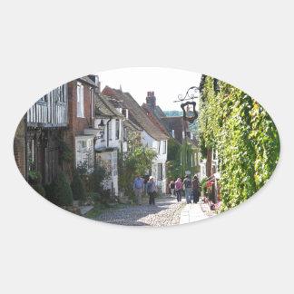 Beautiful Rye in England Oval Sticker