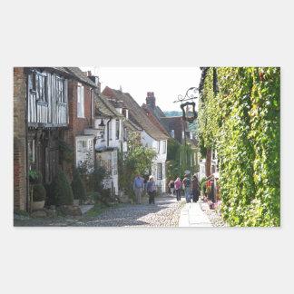 Beautiful Rye in England Rectangular Sticker