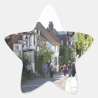 Beautiful Rye in England Star Sticker