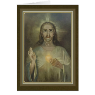 Beautiful Sacred Heart of Jesus Greeting Card