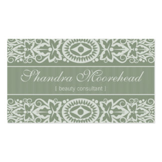Beautiful Sage Beauty Consultant Business Card