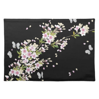 Beautiful Sakura Vintage Japanese Floral Place Mats