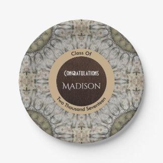 Beautiful Sand Mandala Graduation 7 Inch Paper Plate