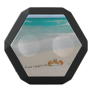 Beautiful Sandy Beach And Crab Black Bluetooth Speaker
