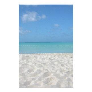 Beautiful Sandy Beach Stationery Design