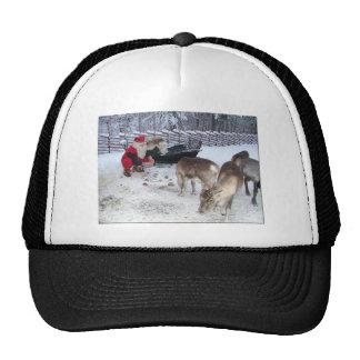 Beautiful Santa and Reindeer Trucker Hat
