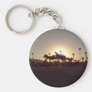 Beautiful Santa Barbara beach sunset Key Ring