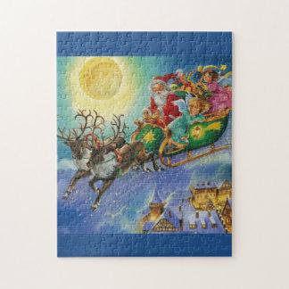 beautiful santa claus reindeer puzzle