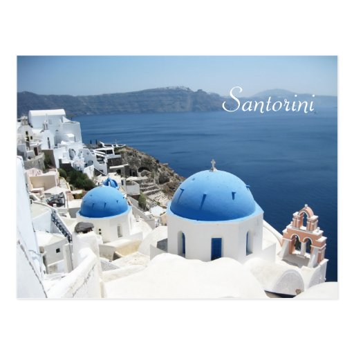 Beautiful Santorini  Greece Post Card