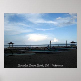 Beautiful Sanur Beach, Bali - Indonesia Poster