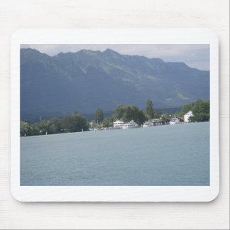 Beautiful scenery at shore of Lake Thun Mouse Pad