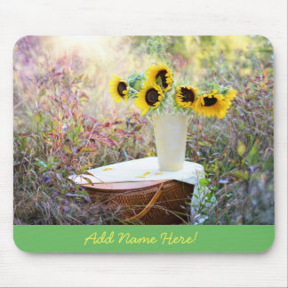 Beautiful Scenic Sunflowers in Field Mouse Pad
