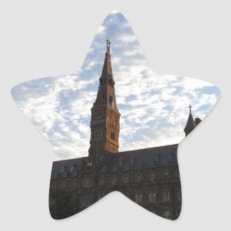 Beautiful school building and sky star sticker