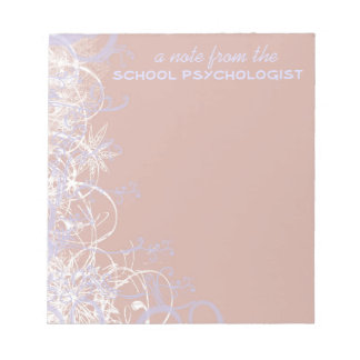 Beautiful School Psychologist Note Pad