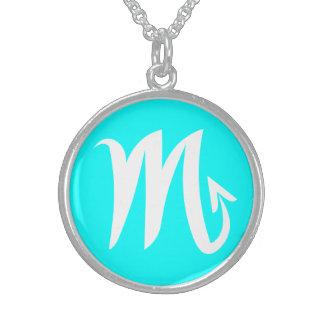 Beautiful Scorpio Sterling Silver Cyan Necklace