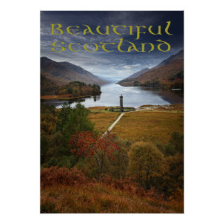 Beautiful Scotland, Glenfinnan Monument Poster