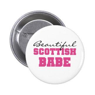 Beautiful Scottish Babe Pinback Button