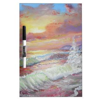 "Beautiful Seascape 18x24"" canvas oil Dry-Erase Board"