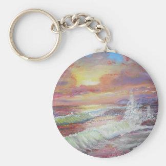 Beautiful Seascape 18x24 canvas oil Keychains