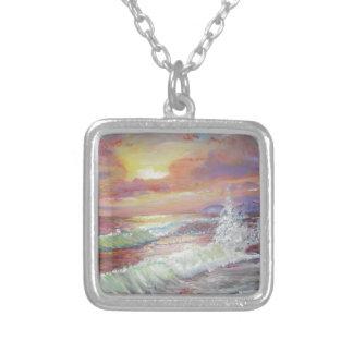 """Beautiful Seascape 18x24"""" canvas oil Custom Necklace"""