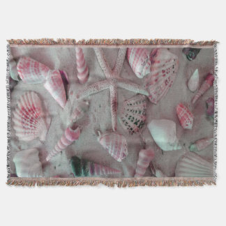 Beautiful Seashells Throw Blanket