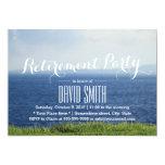 Beautiful Seaside Blue Ocean Retirement Party 13 Cm X 18 Cm Invitation Card