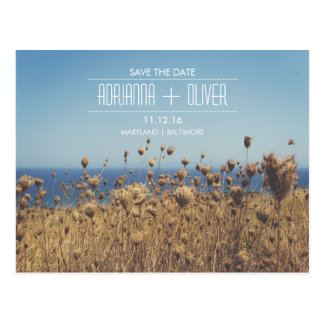 Beautiful Seaside Outdoor Wedding Save The Date Postcard