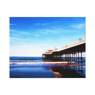 Beautiful Seaside Pier Stretched Canvas Prints