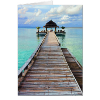 Beautiful Serenade Jetty - Maldives Card