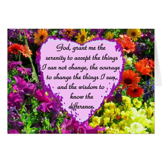 BEAUTIFUL SERENITY PRAYER PHOTO DESIGN CARD