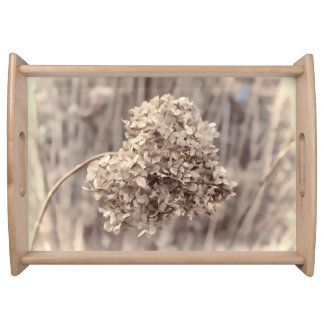 Beautiful Serving Tray, Antique Flower Photo Serving Tray