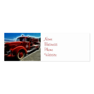 Beautiful Shiny Antique Red Fire Truck Art Pack Of Skinny Business Cards