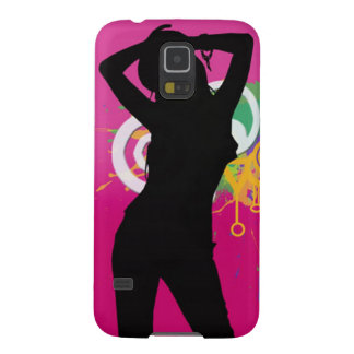 beautiful silhouette girl on colourful background galaxy s5 covers