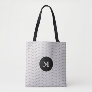 Beautiful Silver Dotted Lines Tote Bag