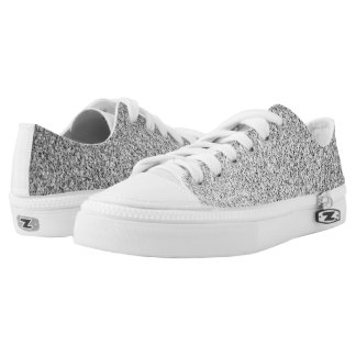 Beautiful Silver glitter sparkles Low Tops
