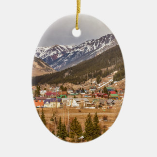 Beautiful Silverton Colorado Christmas Ornament