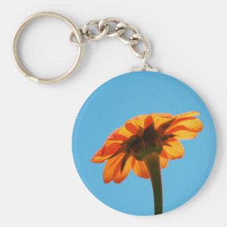 Beautiful single orange flower key chain