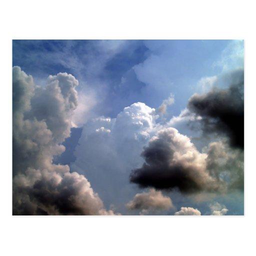 beautiful sky  and  cloud postcard
