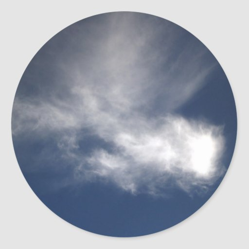 beautiful sky  and  cloud round sticker