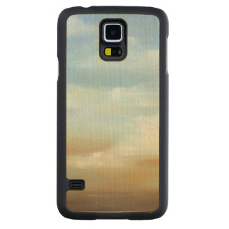 Beautiful Skyscape with Fluffy Clouds Carved Maple Galaxy S5 Case