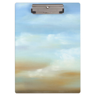 Beautiful Skyscape with Fluffy Clouds Clipboard