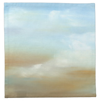 Beautiful Skyscape with Fluffy Clouds Napkin