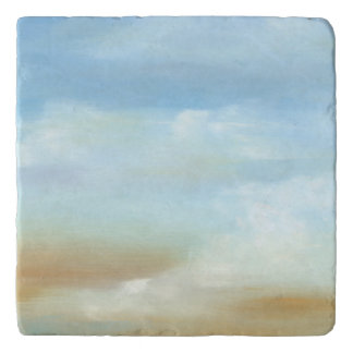 Beautiful Skyscape with Fluffy Clouds Trivets