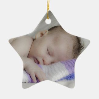 Beautiful Sleeping Newborn Baby Ceramic Star Decoration